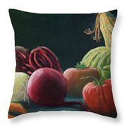My Harvest Vegetables Throw Pillow
