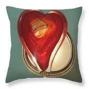 My Heart Burns To See You... Throw Pillow