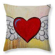 My Heart Has Wings Throw Pillow