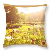 My Heart Is Glad  Throw Pillow