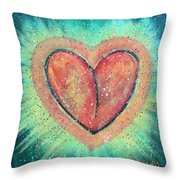 My Heart Loves You Throw Pillow