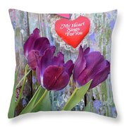 My Heart Sings For You Throw Pillow