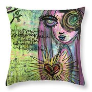 My Heart Sings Like This Little Bird Throw Pillow