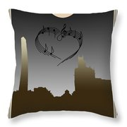 My Heart Sings Of Asheville Throw Pillow