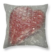 My Hearts Bubbled Wrapped... Throw Pillow