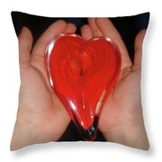 My Hearts In Good Hands....my Son's Throw Pillow