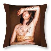 My Invisible Tattoos - Self Portrait Throw Pillow by Jaeda DeWalt