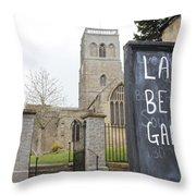 My Kind Of Church Throw Pillow
