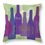 My Kind Of Wine Throw Pillow by Tara Hutton