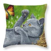 My Kitty Throw Pillow
