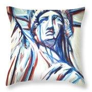 My Lady Liberty  Throw Pillow