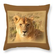 My Lion Eyes Throw Pillow