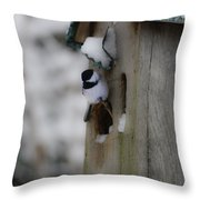 My Little Chickadee Throw Pillow