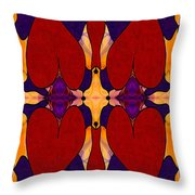 My Love Is Alive Abstract Bliss Art By Omashte Throw Pillow