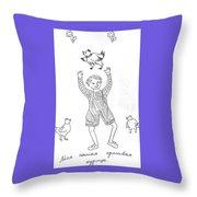 My Lovely Hen. Throw Pillow