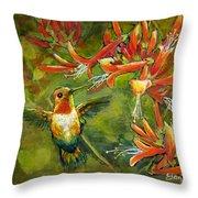 My Loving Hummingbird Throw Pillow