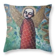 My Mind Is Cleared Of All Turmoil And Fear Throw Pillow
