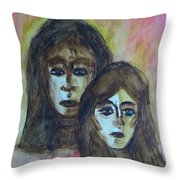 My Mother -- My Self Throw Pillow
