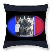My Mother And Her Family Virginia Minnesota Circa 1919 Throw Pillow