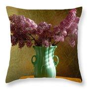 My Mother's Lilacs Throw Pillow