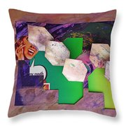 My Mouth Throw Pillow
