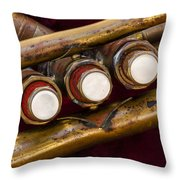My Musical Past Throw Pillow