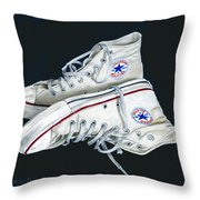 My Old All Stars Throw Pillow