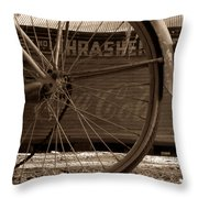 My Old Bike Throw Pillow