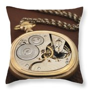 My Old Pocket Watch Throw Pillow