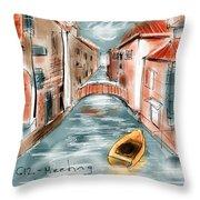 My Own Venice Throw Pillow