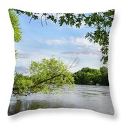 My Place By The River Throw Pillow