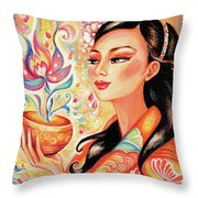 Kimono Flower Throw Pillow