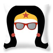 My Red Glasses Throw Pillow