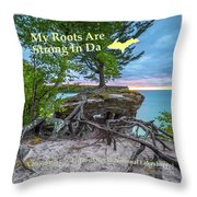 My Roots Are Strong Chapel Rock -6121 Pictured Rocks Michuigan Throw Pillow