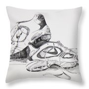 My Running Shoes Throw Pillow
