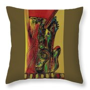My Sax My Way Throw Pillow