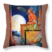 My Ship Is Coming In Throw Pillow