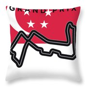 My Singapore Grand Prix Minimal Poster Throw Pillow