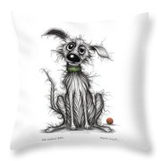 My Smelly Dog Throw Pillow