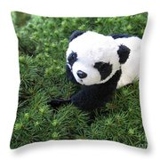 My Soft Green Bed Throw Pillow
