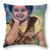 My Son When He Was A Toddler Throw Pillow