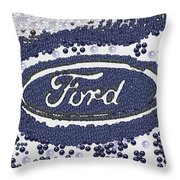 My Steering Wheel Pearlesqued Throw Pillow