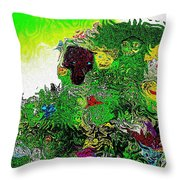 My Strange Wonderful And Somewhat Creepy Garden Throw Pillow