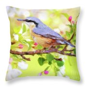 My Summer Bird Throw Pillow