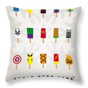 My Superhero Ice Pop - Univers Throw Pillow by Chungkong Art