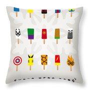 My Superhero Ice Pop - Univers Throw Pillow