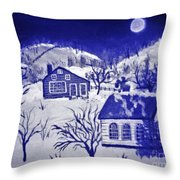 My Take On Grandma Moses Art Throw Pillow