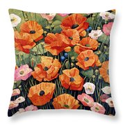 My Taos Wildflowers Throw Pillow