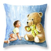 My Teddy And Me 03 Throw Pillow