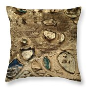 My Textured Stones B Throw Pillow by Sonya Wilson